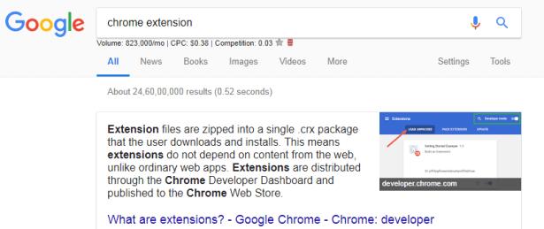 type google chrome extension