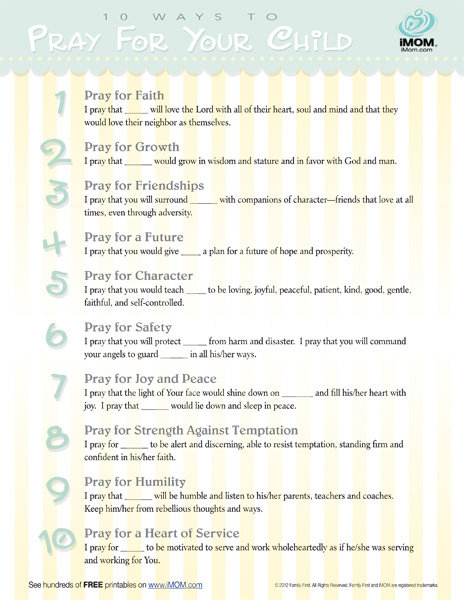 10 ways pray your child imom, coloring pages i love you mom