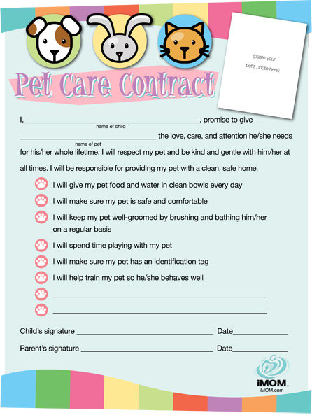 Pet Care Contract IMom