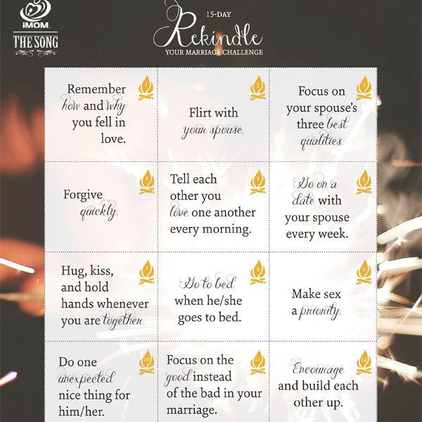 Rekindle Your Marriage Challenge  iMom