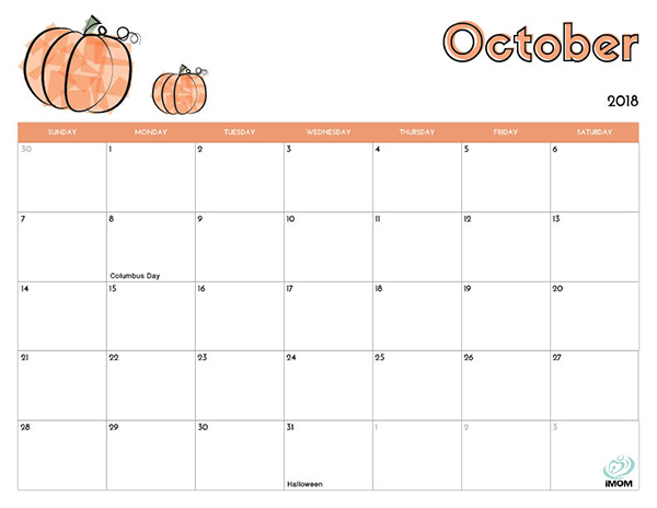 Fall Themed September Calendar 2017