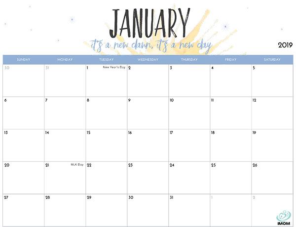 downloadable weekly calendars