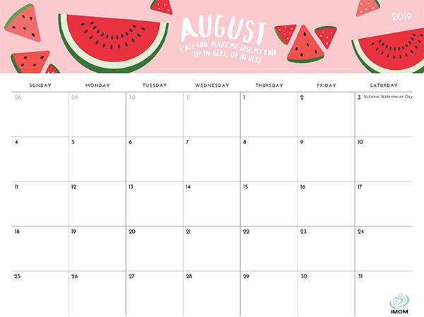 picture regarding Imom Calendars named Desirable Adorable Printable Calendar 2019 Imom -