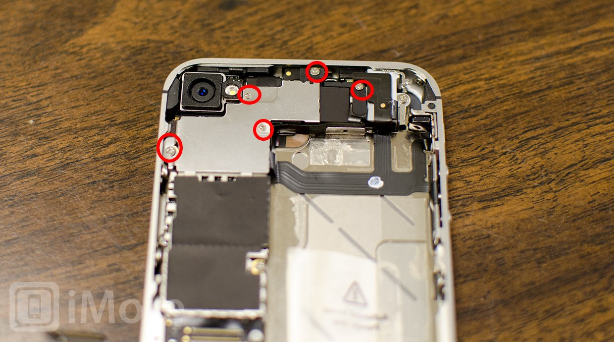 hight resolution of  iphone 4s logic board shield removal
