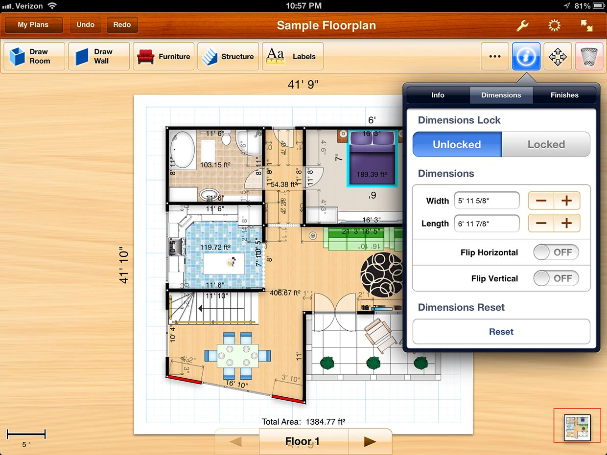 Floorplans for iPad review Design beautiful detailed