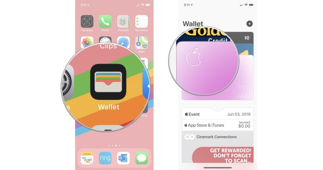 Open the Wallet app, then tap your Apple Card