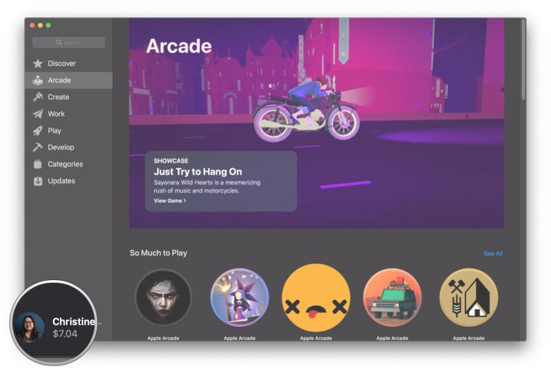 How to cancel Apple Arcade on your Mac by showing steps: Click your Apple ID in the App Store