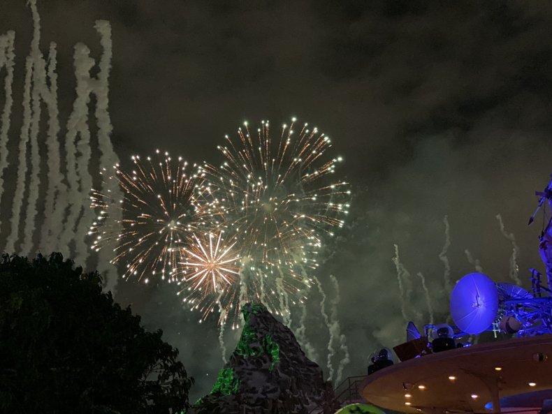 Halloween Screams Fireworks above Matterhorn