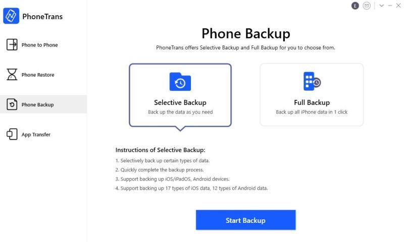PhoneTrans Backup
