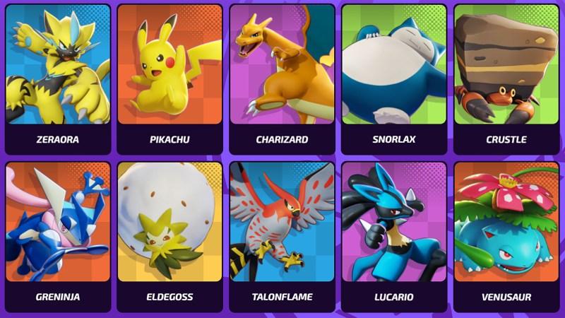 Pokemon Unite Characters