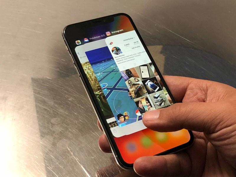 iPhone X multitasking
