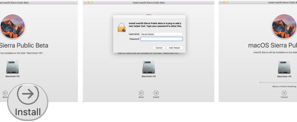 How to install macOS Sierra public beta