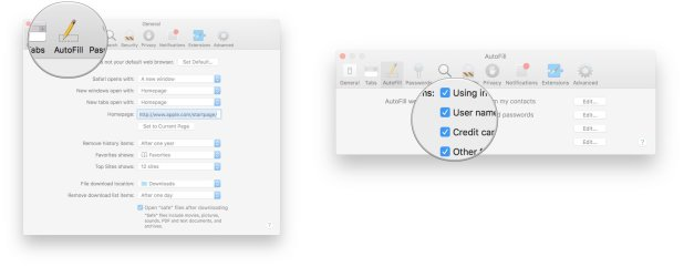 Click AutoFill, click the checkboxes next to the categories you want autofilled