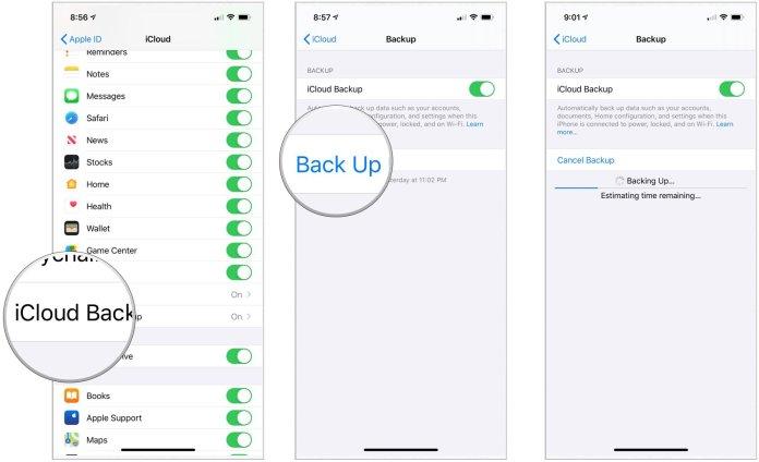 iPhone iCloud Backup