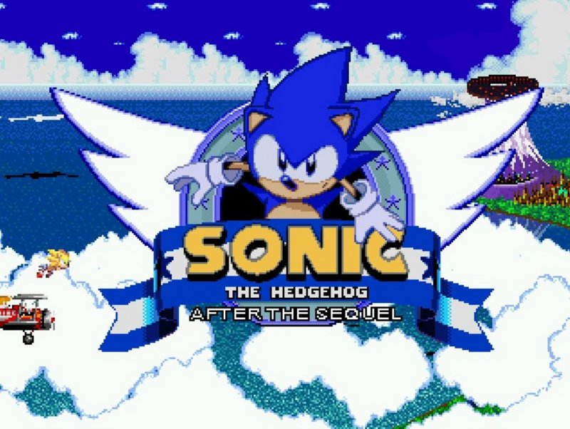 Sonic After The Sequel Title Screen