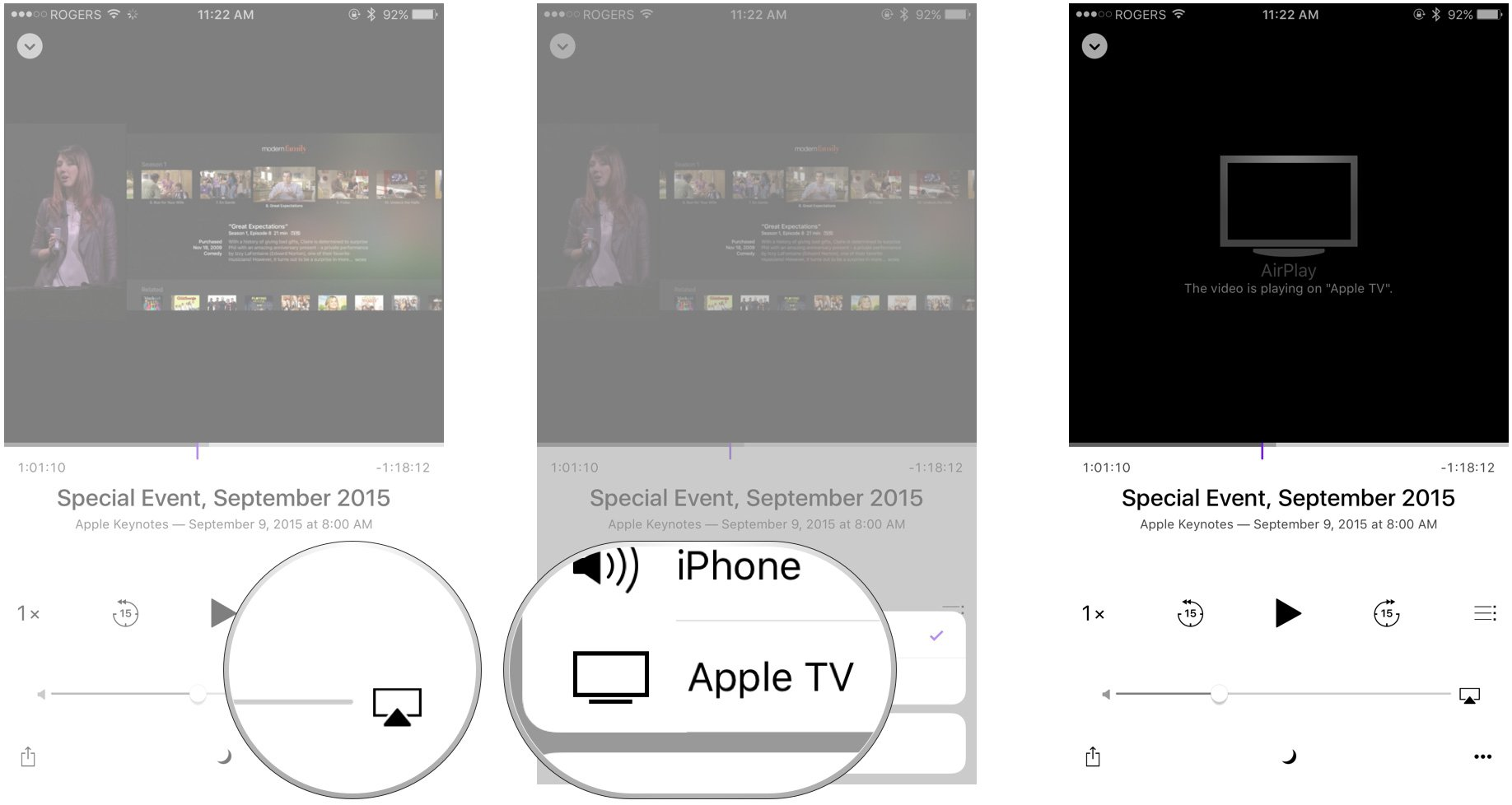 medium resolution of select your new apple tv as the source
