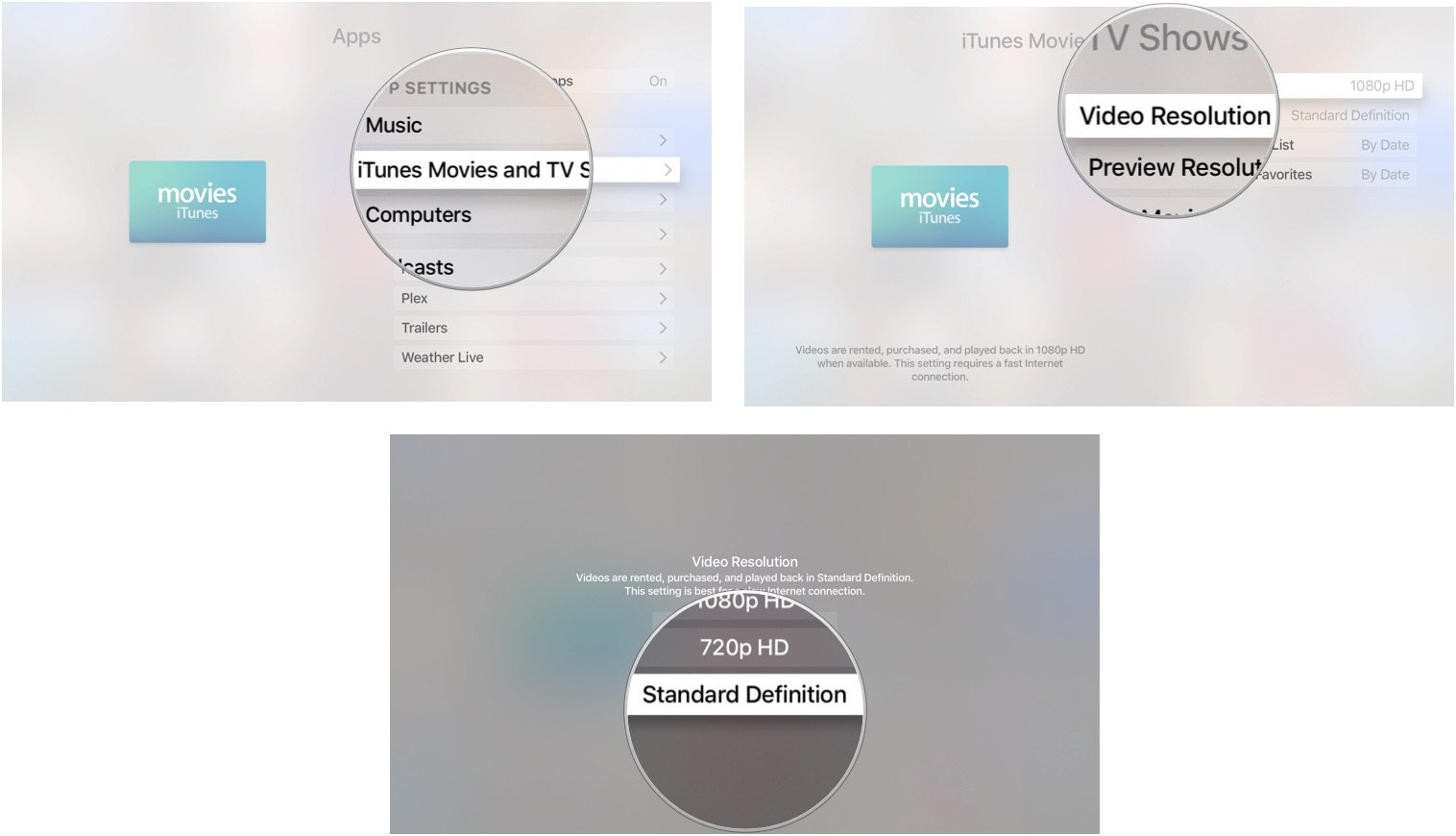 medium resolution of changing video resolution on apple tv