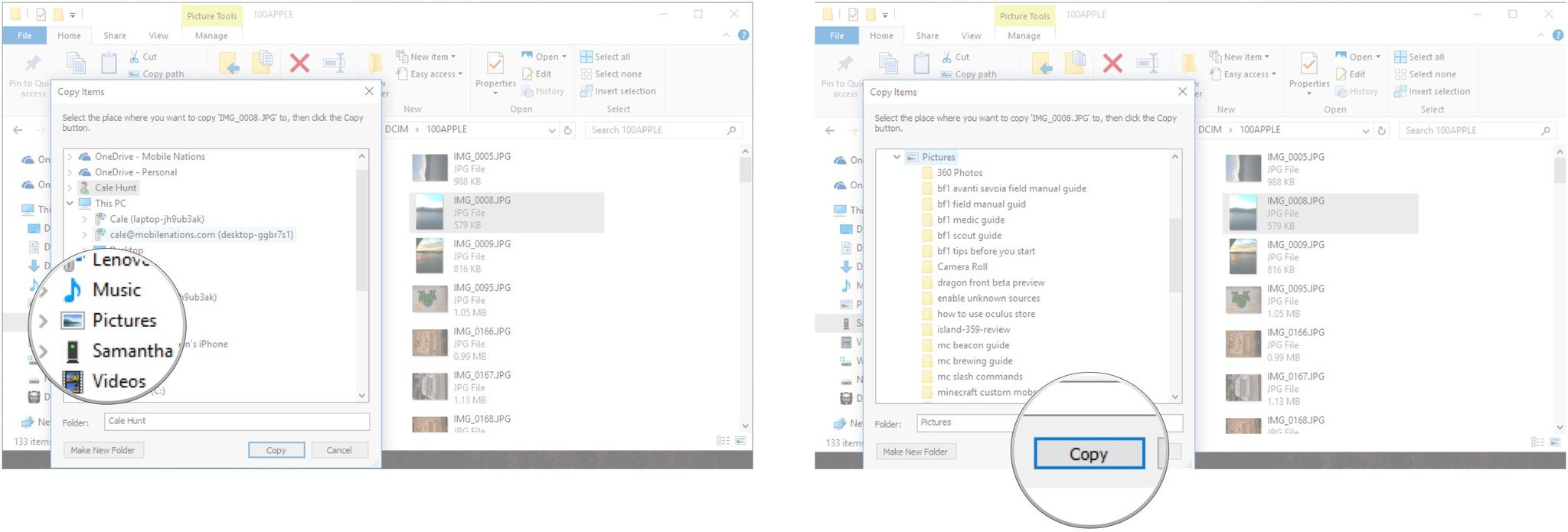 medium resolution of click a folder click copy