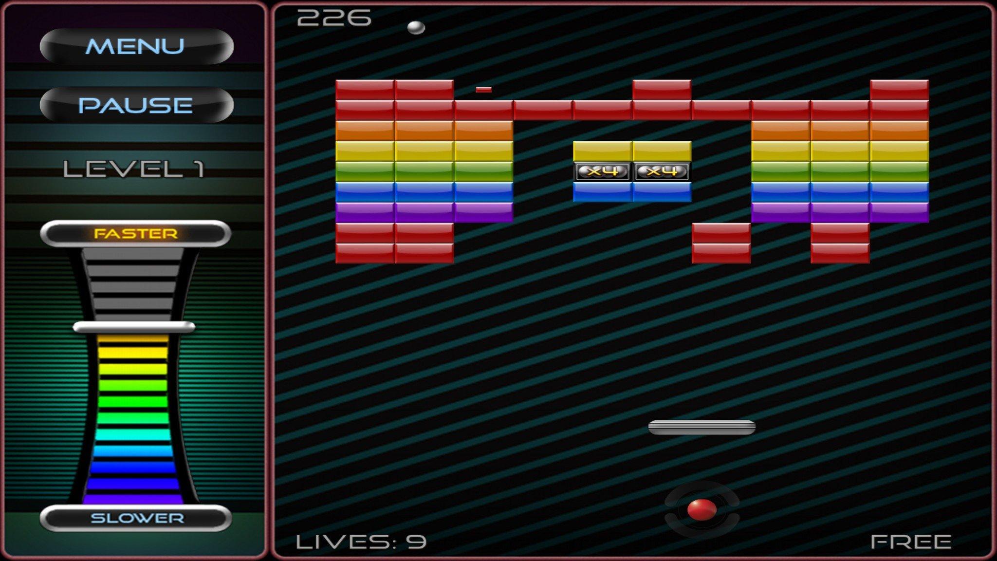 Original Breakout Game Atari