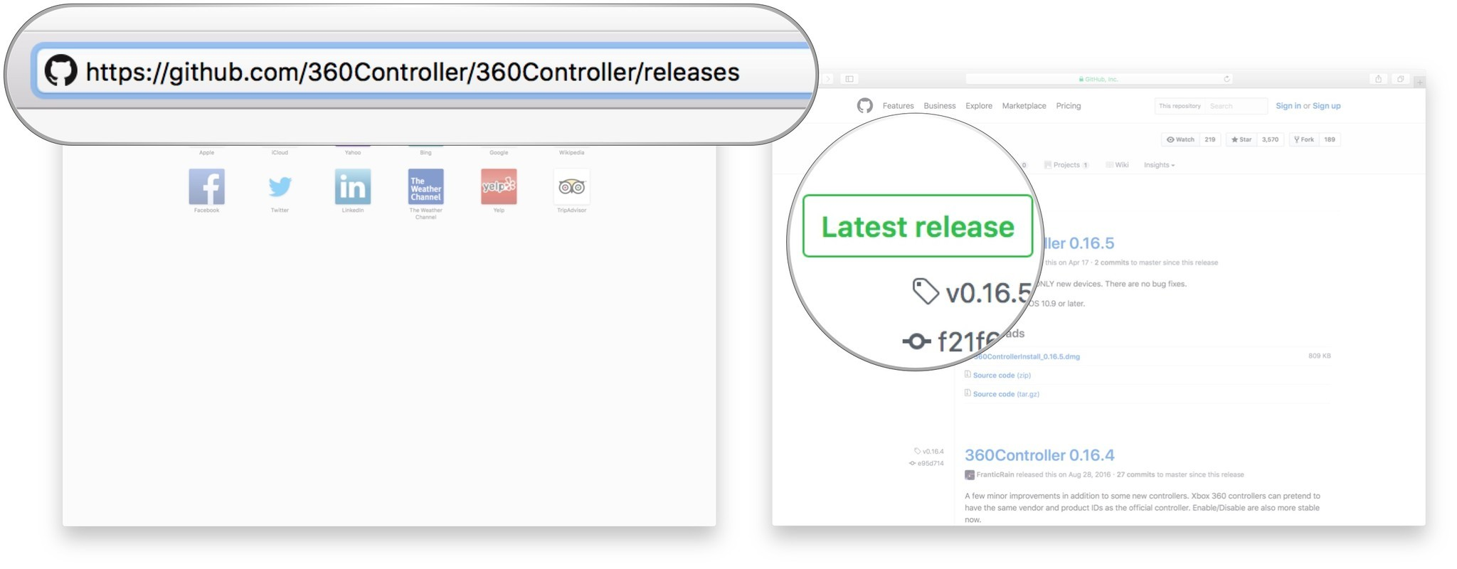 download the latest release of the 360controller driver as of this writing the latest release is 0 16 5  [ 1600 x 625 Pixel ]