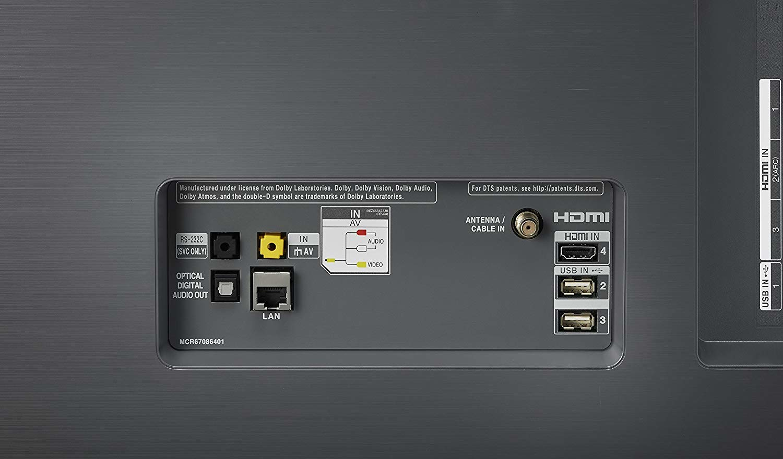 medium resolution of back of the lg 55 inch tv