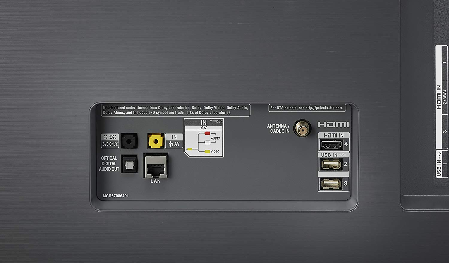 hight resolution of back of the lg 55 inch tv