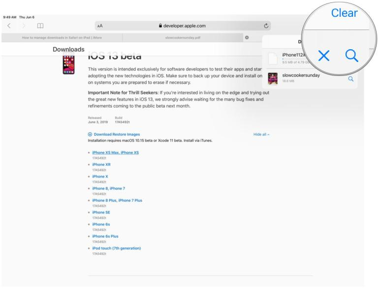 Image result for View the progress of files downloaded in Safari in ipad