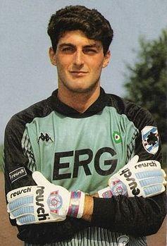 O goleiro Gianluca Pagliuca: elástico, sortudo e craque no gol da Samp.