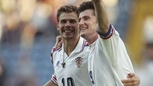 Boban e Suker: dupla de ouro do futebol croata nos anos 90.