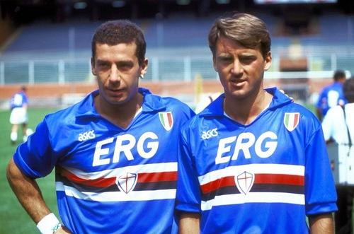 Vialli e Mancini: os maiores mitos da história da Sampdoria.