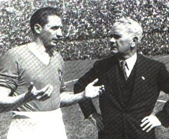 Silvio Piola e Vittorio Pozzo: as estrelas da Itália no bicampeonato mundial.