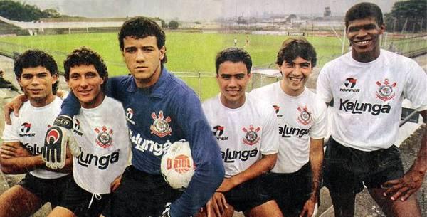 Alguns dos jovens do terrão: Ailton, Márcio, Ronaldo, Edmundo, Marcelo e Marcos Roberto.