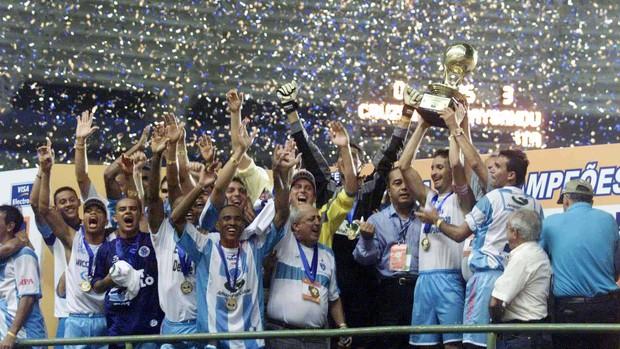 Paysandu campeão dos campeões em 2002: passaporte para a Libertadores.