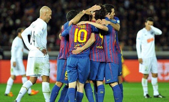 Em dezembro, o Santos participou de outra partida cheia de arte, só que dessa vez de um time só: o Barcelona.