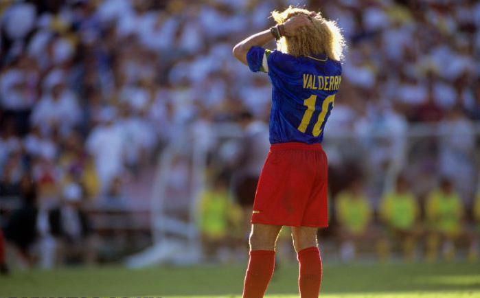 Valderrama lamenta a derrota contra a Romênia...