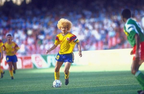 Carlos Valderrama: craque maiúsculo da Colômbia nos anos 90.