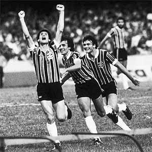 Baltazar vibra: o Grêmio era campeão brasileiro de 1981.