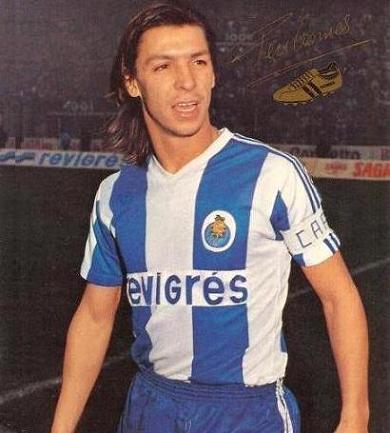 Fernando Gomes, maior artilheiro da história do Porto.