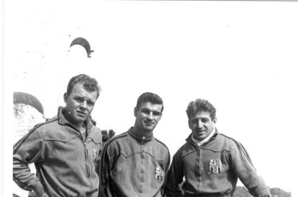 Kubala, Kocsis e Czibor: húngaros brilharam no Barcelona do final dos anos 50 e início dos anos 60.