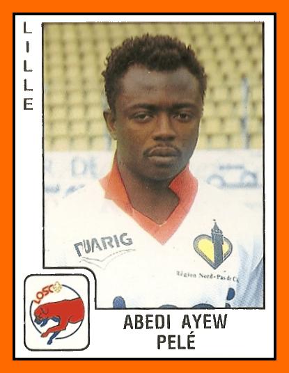Abedi PELE Panini Lille 1990