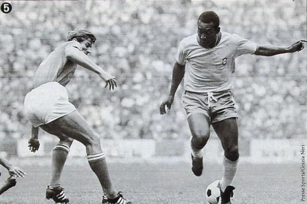"Contra Pelé (à dir.), Facchetti teve momentos de ""mortalidade""."