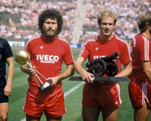 Breitner e Rummenigge: as feras de um novo Bayern campeão nos anos 80.