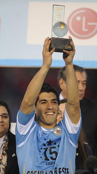 Suárez, o jogador mais valioso (MVP) da Copa América.