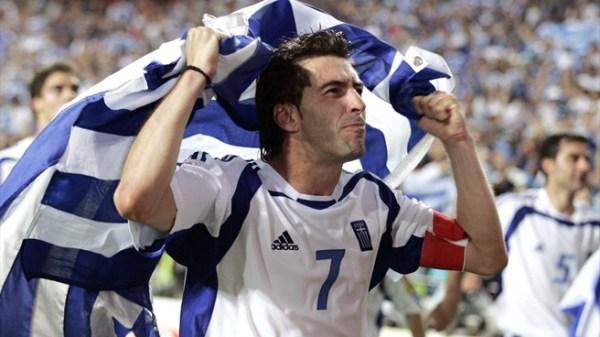 O capitão Zagorakis, um dos símbolos do time de 2004.