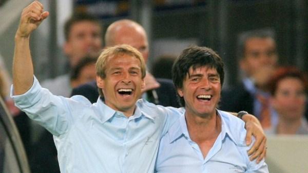 Klinsmann e Löw, em 2006: parceria de sucesso no comando da Alemanha.