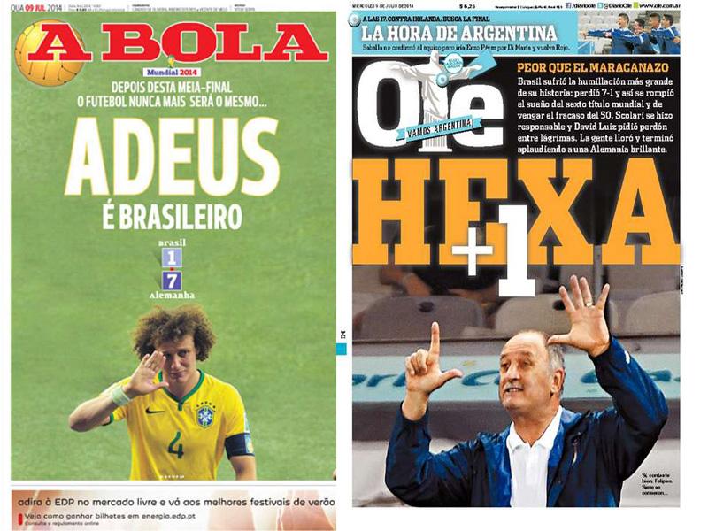 A Bola (Portugal) e Olé (Argentina).