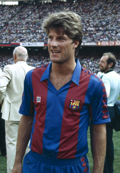 BT Sport, Football, pic: circa 1990, Spanish League, Michael Laudrup, Barcelona, 1989-1994