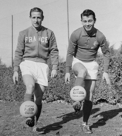 Kopa e Fontaine, a dupla de ouro da grande França de 1958.
