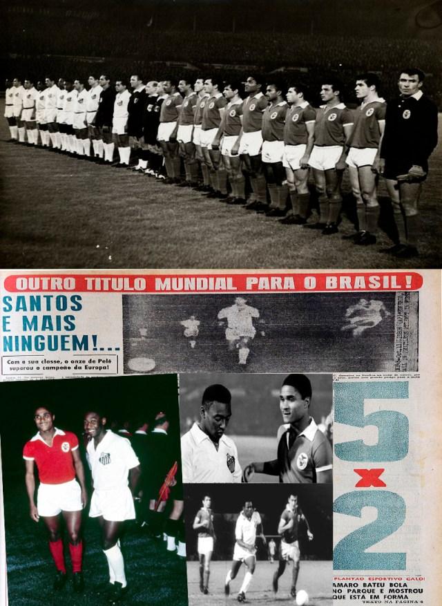 Jogos Eternos – Benfica 2×5 Santos 1962