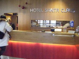 サンタクロースホテル フロント